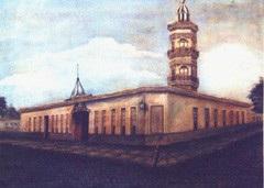 Colegio en el pueblo del Cardal. Mirador de Oribe.