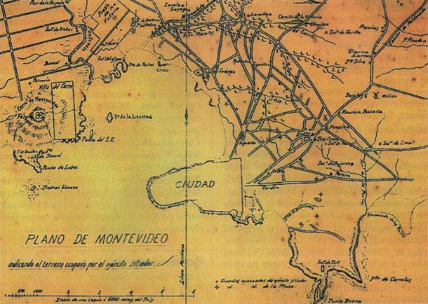 Plano de Montevideo en el Sitio Grande