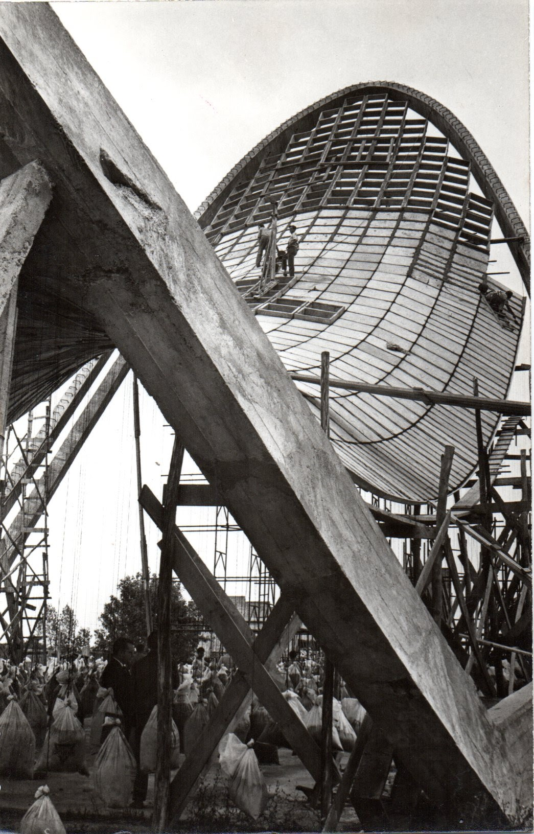 Estructura de la iglesia de Progreso 1967